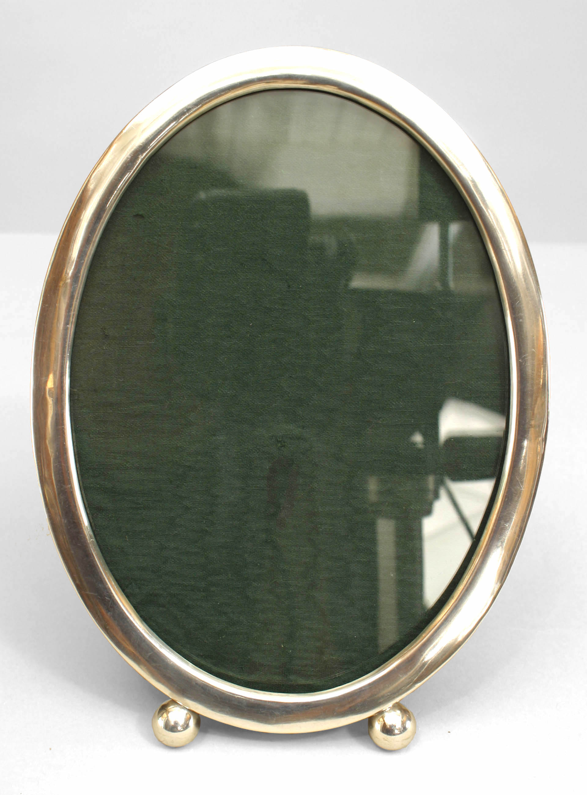 American Victorian Style Oval Shaped Sterling Silver Easel Picture