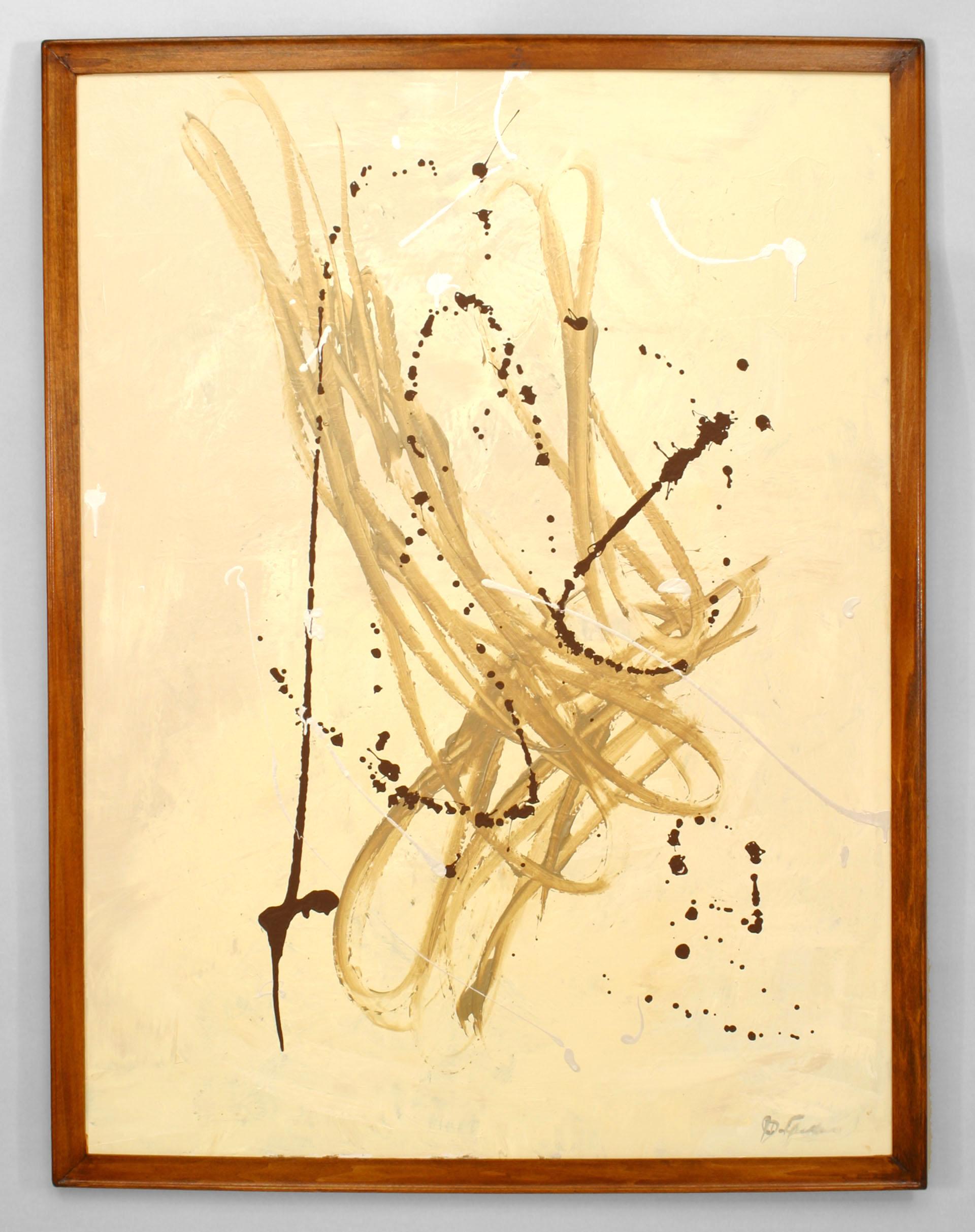 American beige loop abstract painting | NEWEL