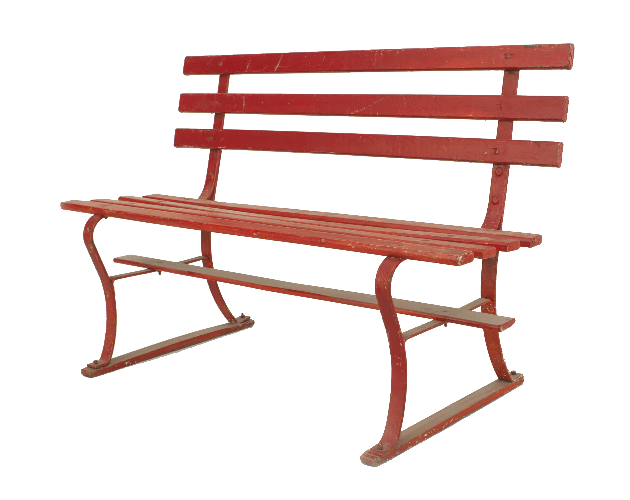 Groovy American Country Outdoor Red Bench Newel Machost Co Dining Chair Design Ideas Machostcouk