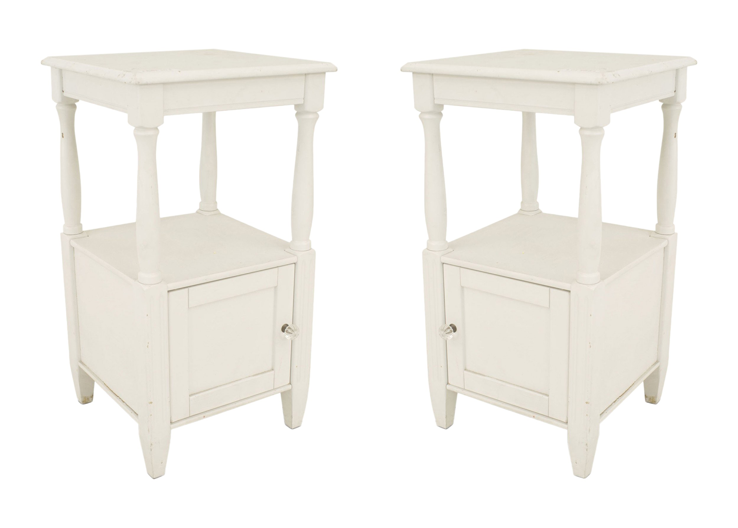 French Provincial Painted Bedside Tables 1