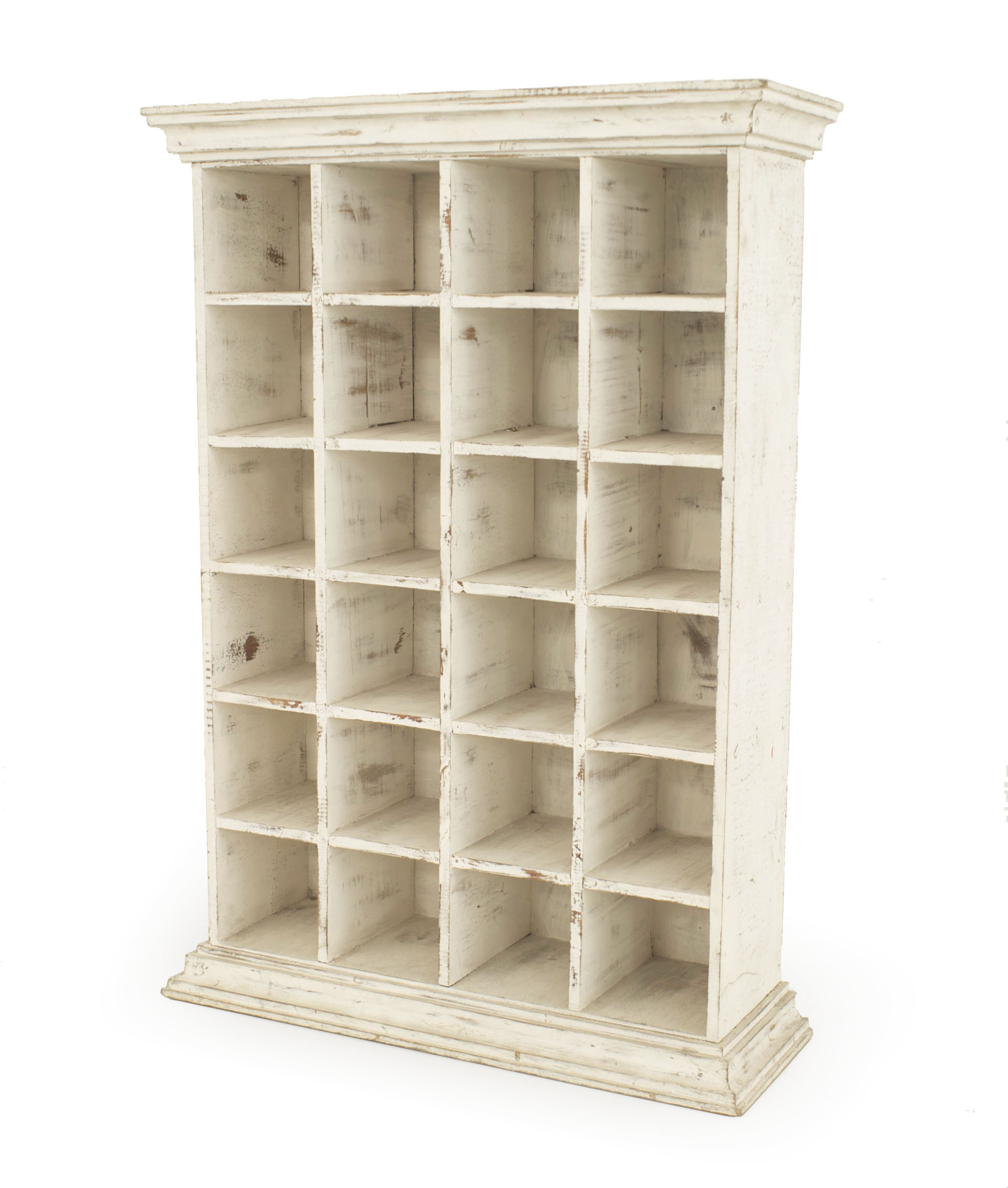 Country White Apothecary Cabinet Newel Antiques