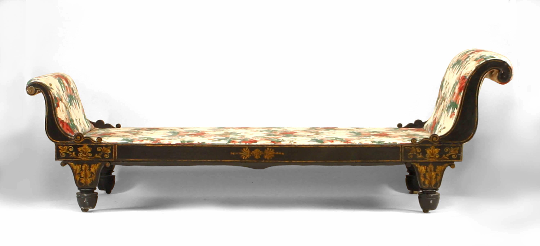 Pleasant American Federal Sleigh Chaise Newel Theyellowbook Wood Chair Design Ideas Theyellowbookinfo