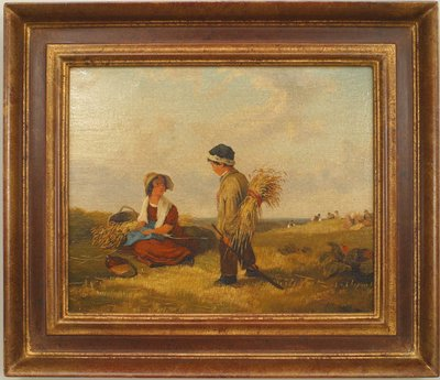 Copy of a genre painting titled