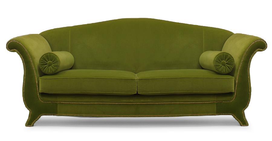 Italian Green Velvet Settee | NEWEL