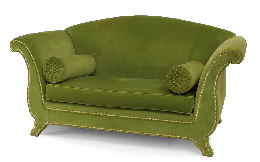 Swell Italian Green Velvet Loveseat Newel Bralicious Painted Fabric Chair Ideas Braliciousco
