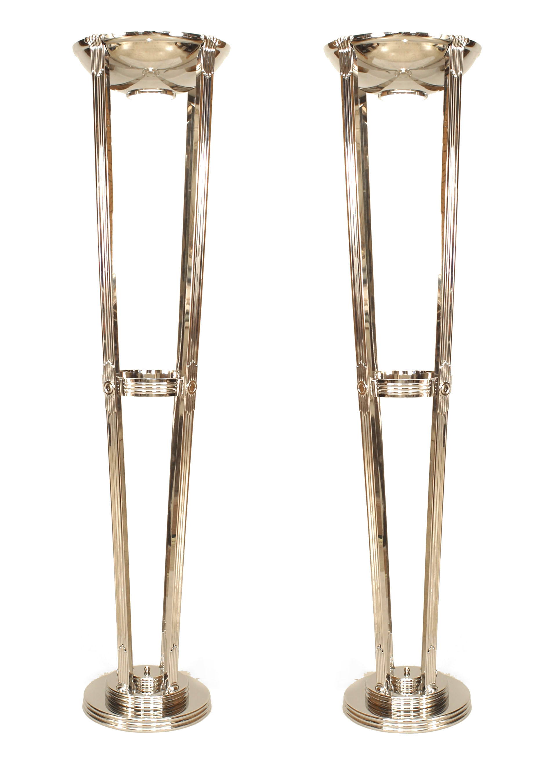 Picture of: French Art Deco Chrome Floor Lamps 1