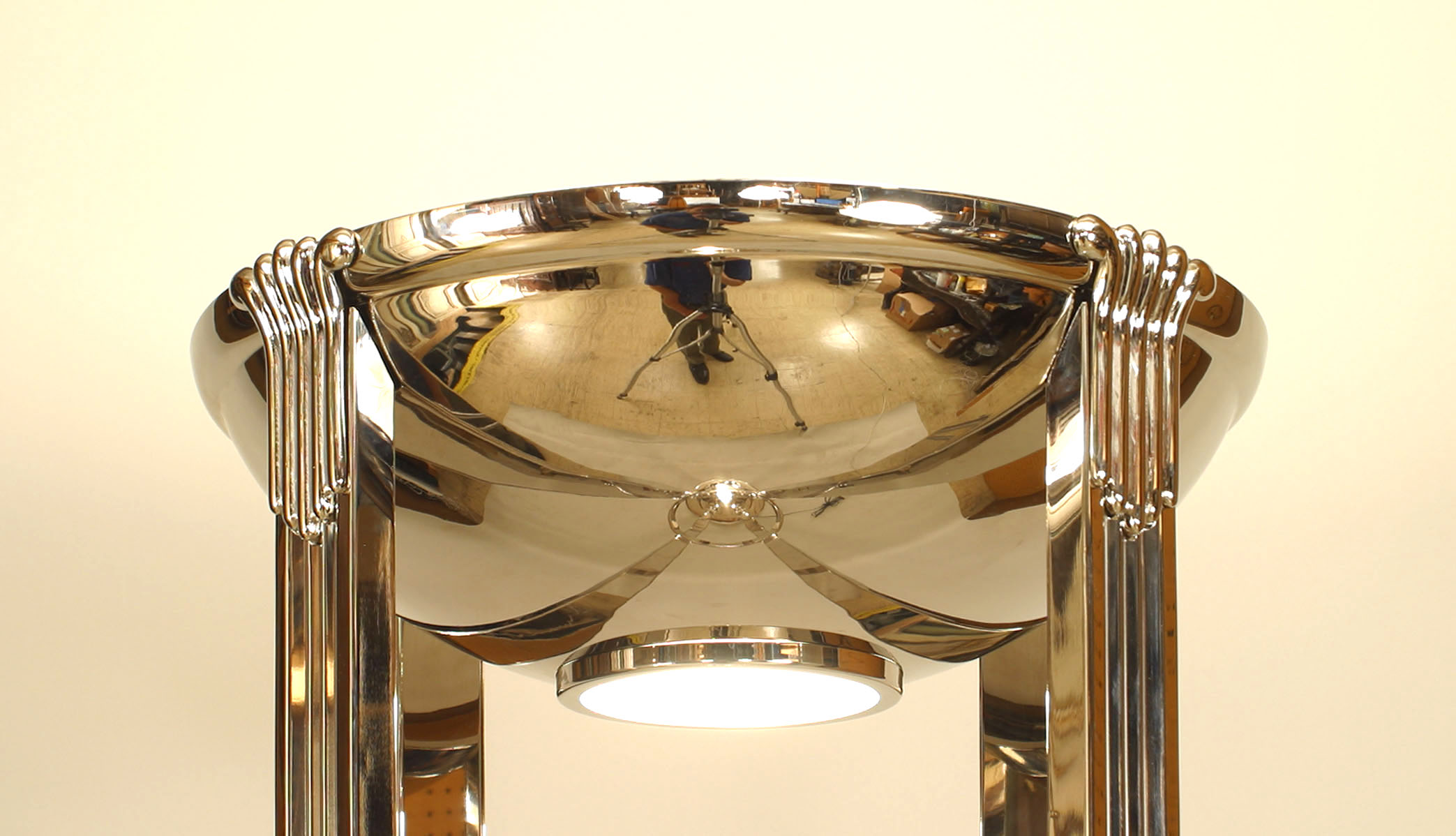 French Art Deco Chrome Floor Lamps 1