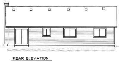 Rear Elevation Plan: 1-102