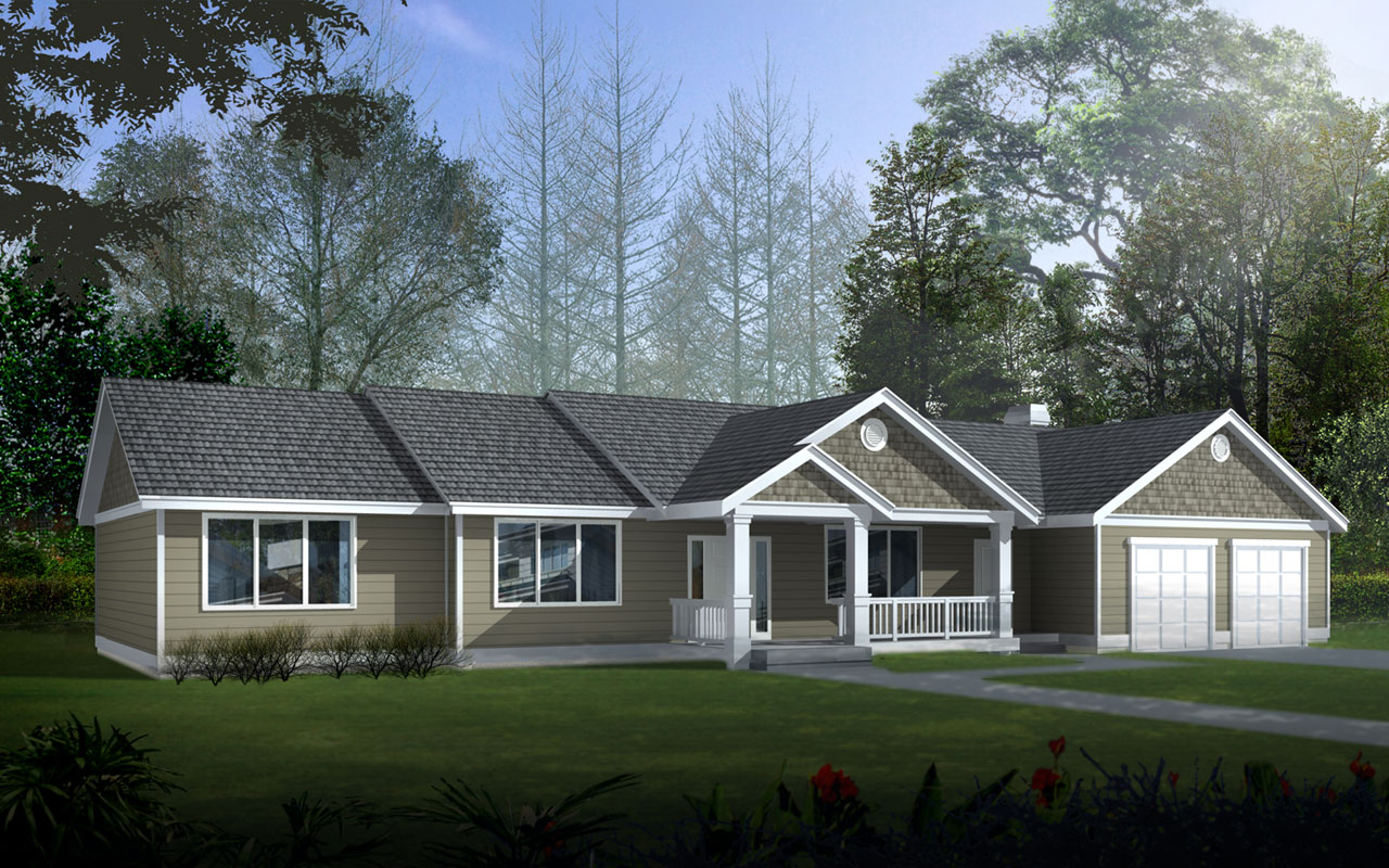Craftsman Style House Plans Plan: 1-104