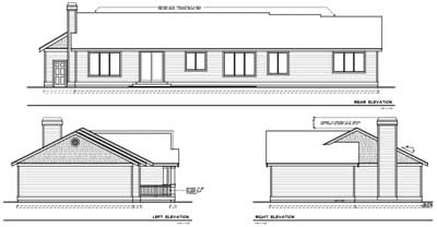 Rear Elevation Plan: 1-104