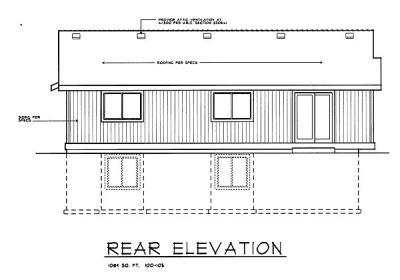 Rear Elevation Plan: 1-105