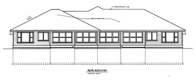 Rear Elevation Plan: 1-106
