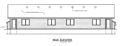 Rear Elevation Plan: 1-107