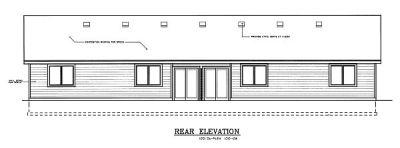 Rear Elevation Plan: 1-108