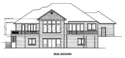 Rear Elevation Plan: 1-109