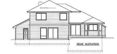 Rear Elevation Plan: 1-110
