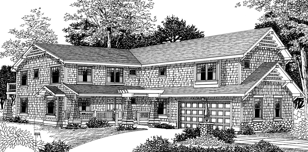 Craftsman Style House Plans Plan: 1-112