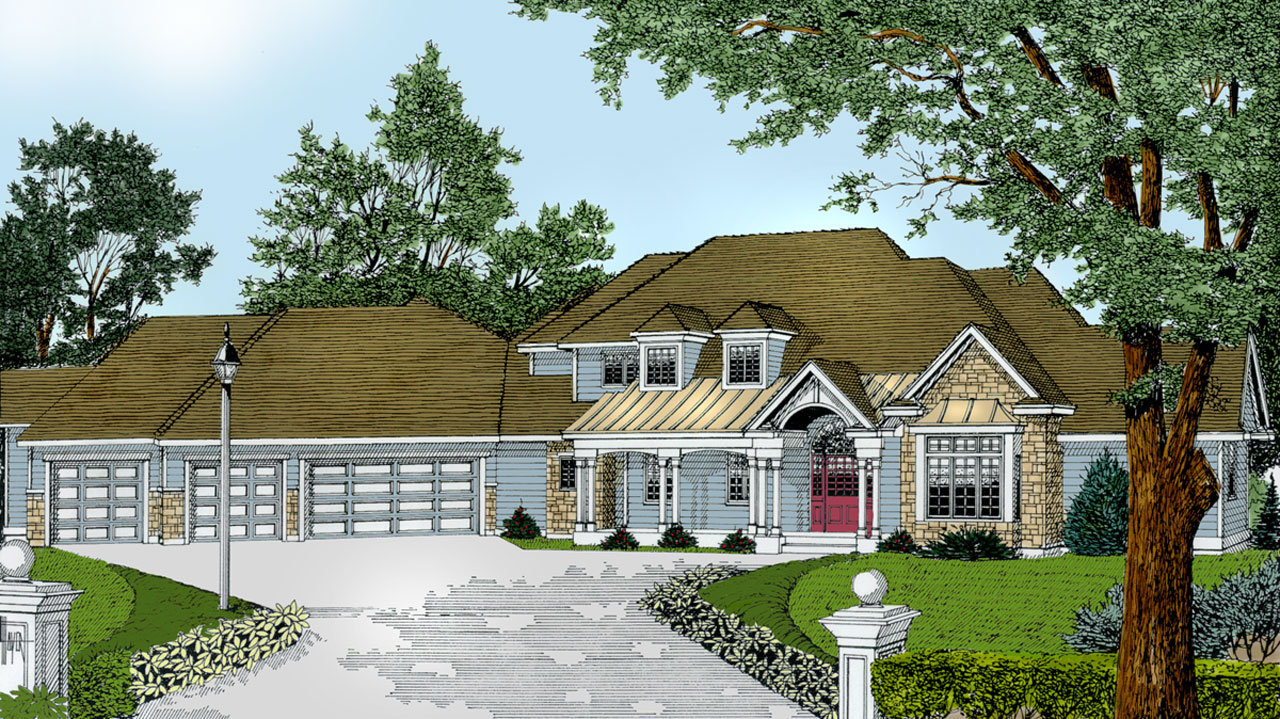 French-country Style Floor Plans Plan: 1-114