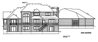 Rear Elevation Plan: 1-115