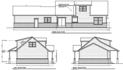 Rear Elevation Plan: 1-117