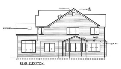 Rear Elevation Plan: 1-119