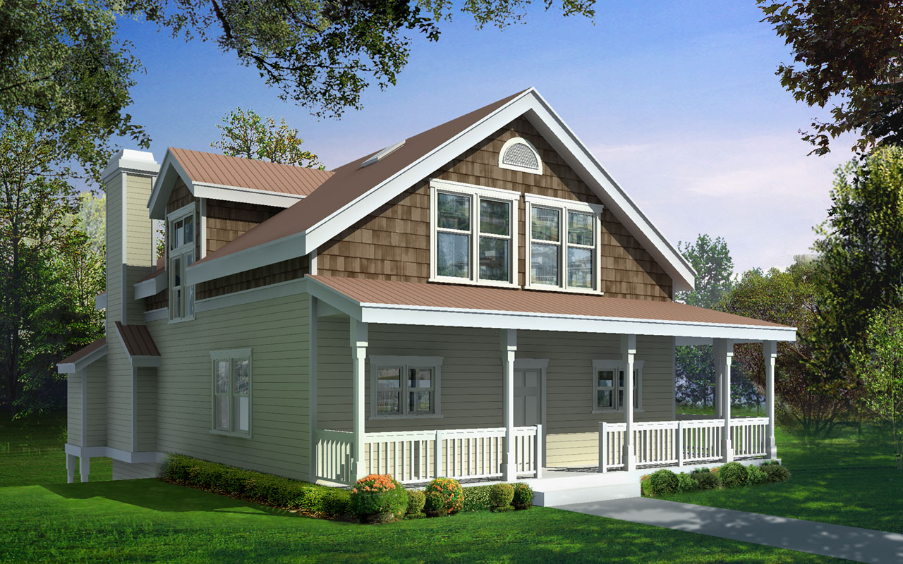 Country Style House Plans Plan: 1-120