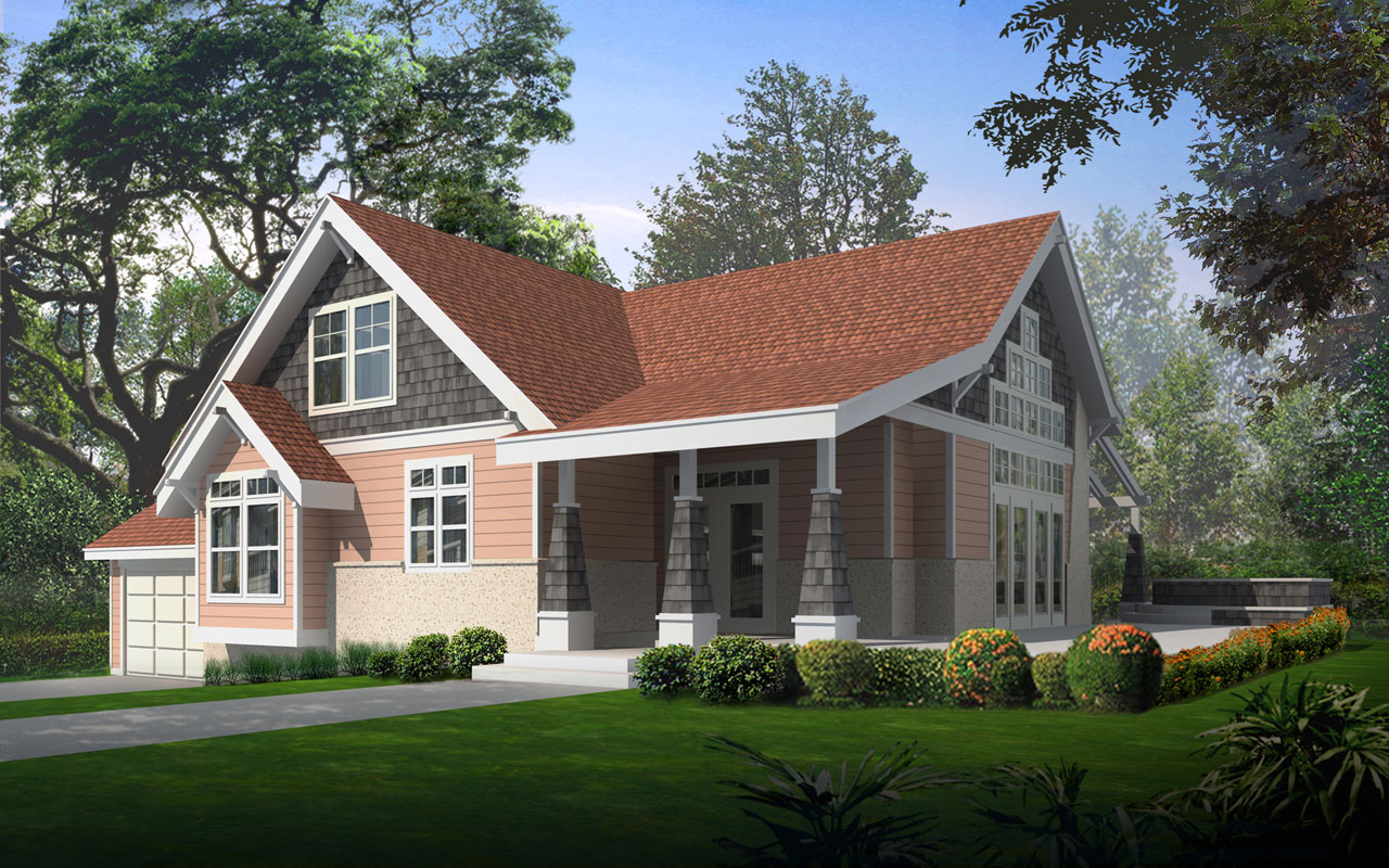 Craftsman Style House Plans Plan: 1-121