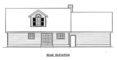 Rear Elevation Plan: 1-122