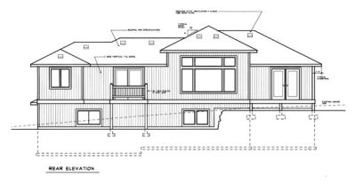 Rear Elevation Plan: 1-123