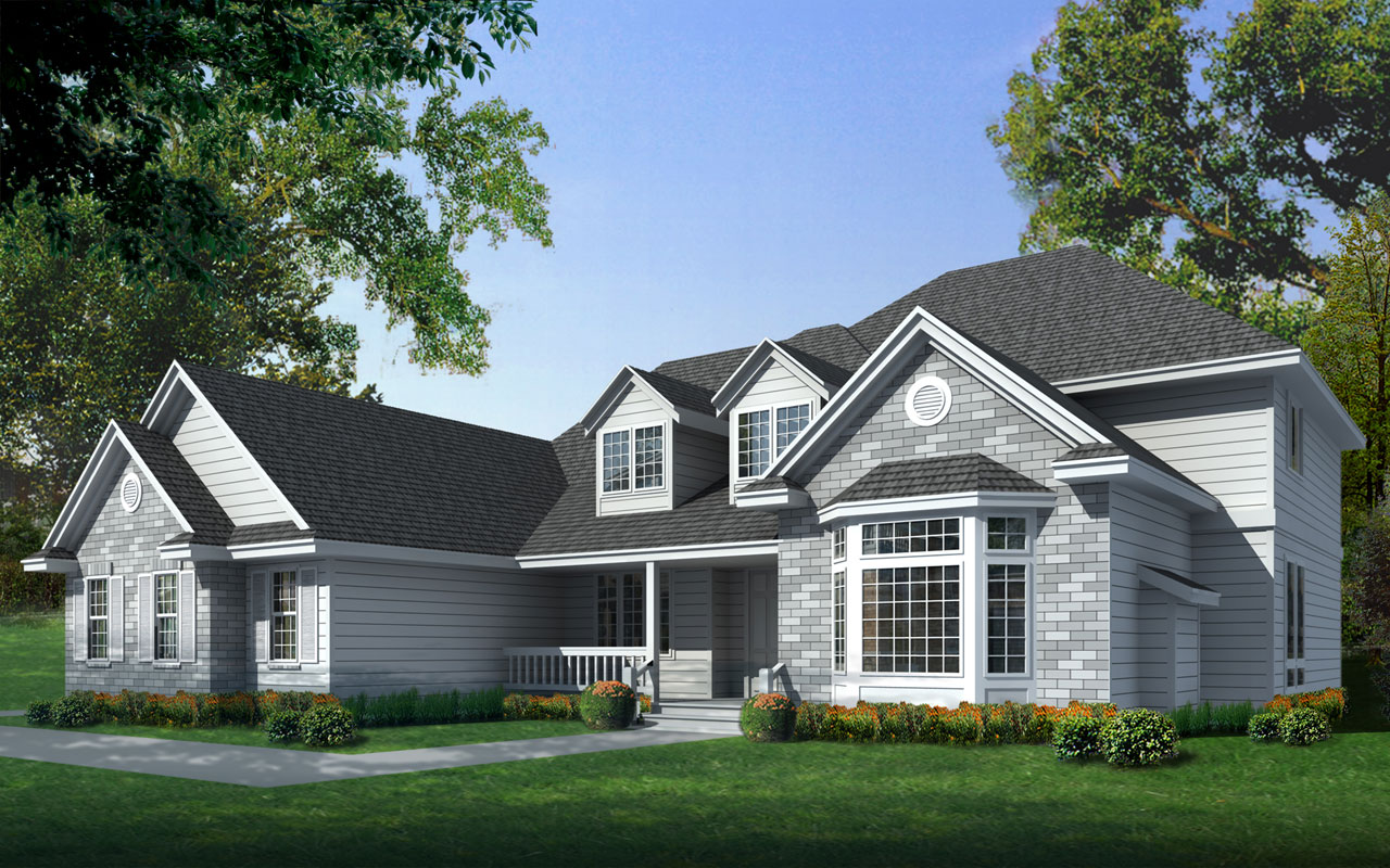Traditional Style Home Design Plan: 1-124