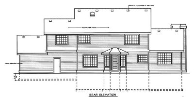 Rear Elevation Plan: 1-125