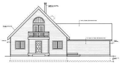 Rear Elevation Plan: 1-127