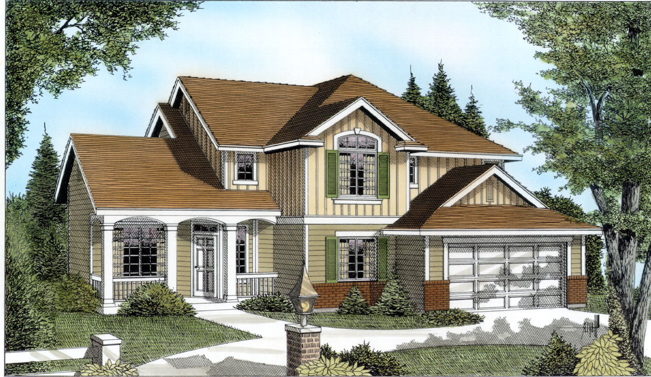 Traditional Style House Plans Plan: 1-129