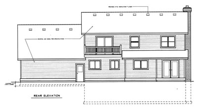Rear Elevation Plan: 1-130