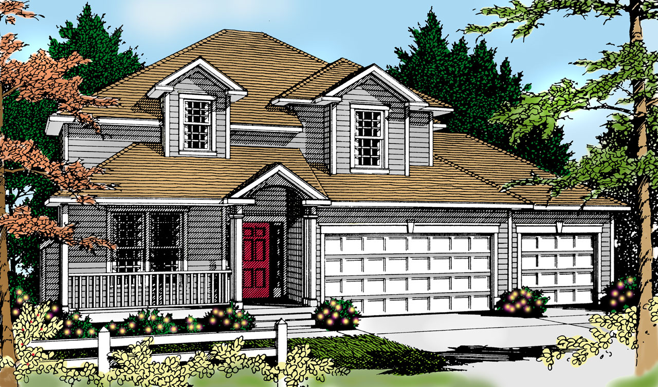 Country Style Floor Plans Plan: 1-131