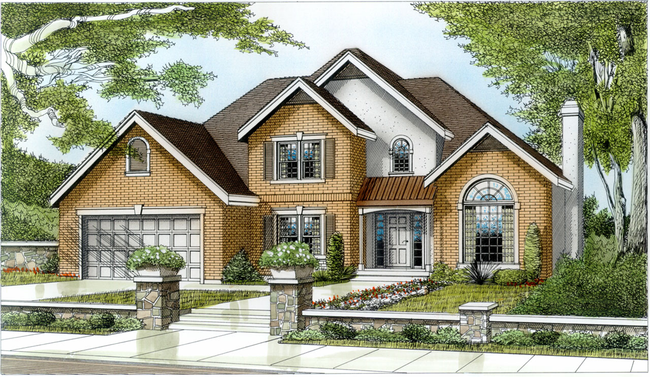 Traditional Style Home Design Plan: 1-133