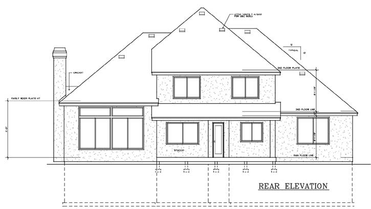 Rear Elevation Plan: 1-133