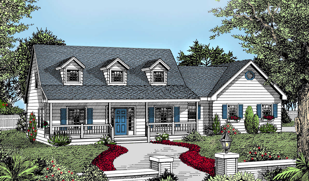 Country Style House Plans Plan: 1-139