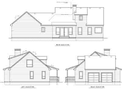 Rear Elevation Plan: 1-139