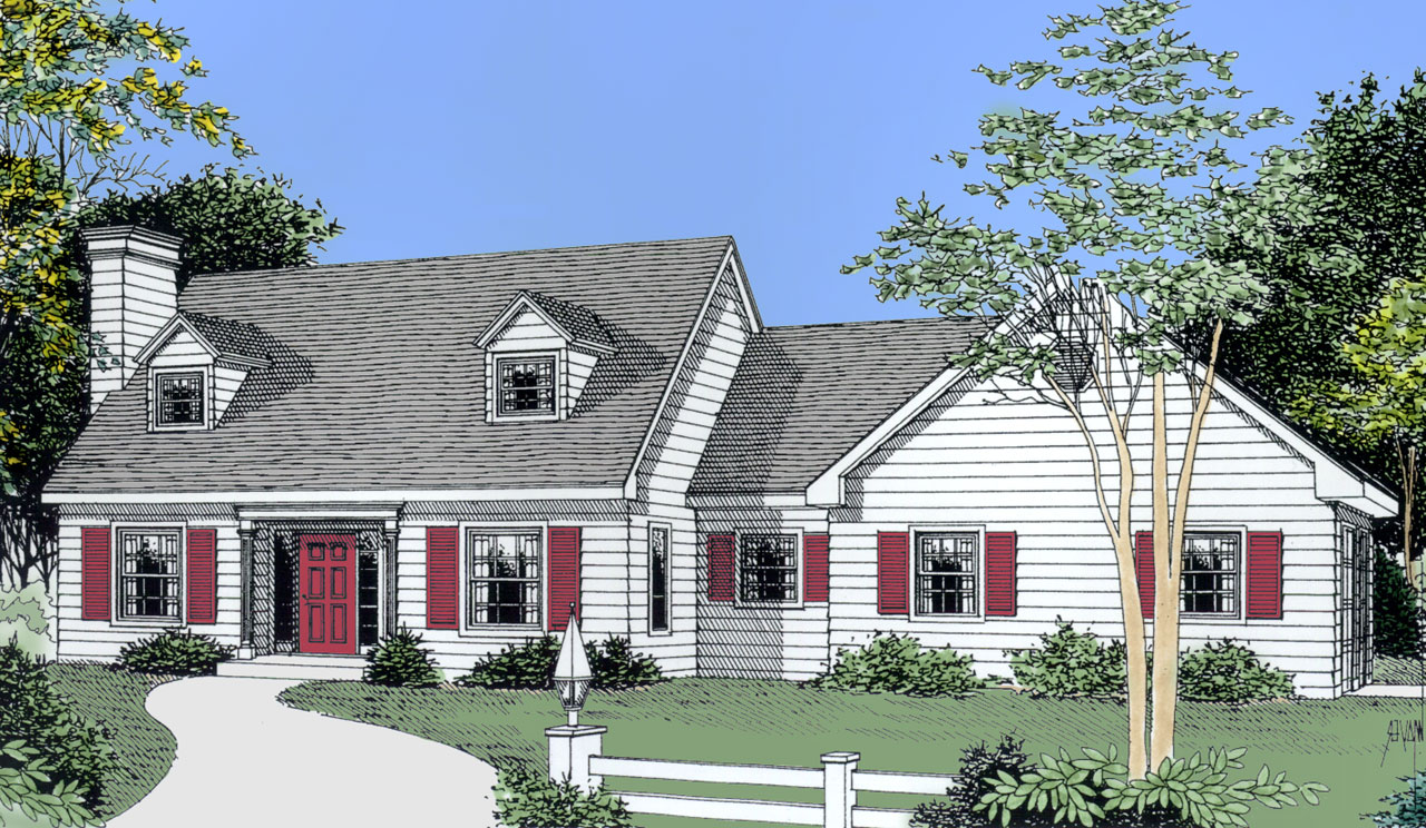 Cape-cod Style House Plans Plan: 1-140