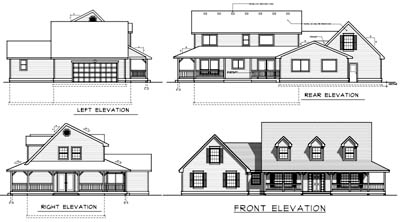 Rear Elevations Plan:1-141