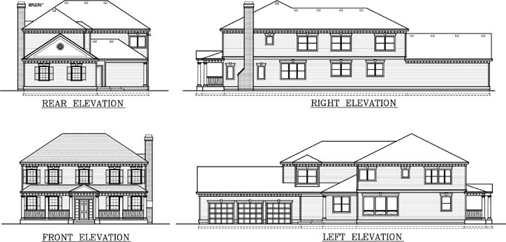 Rear Elevation Plan: 1-142
