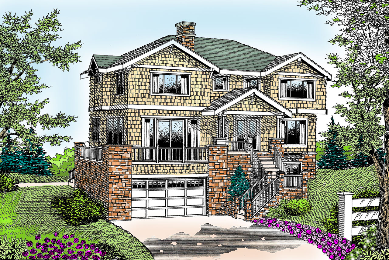 Shingle Style House Plans Plan: 1-143