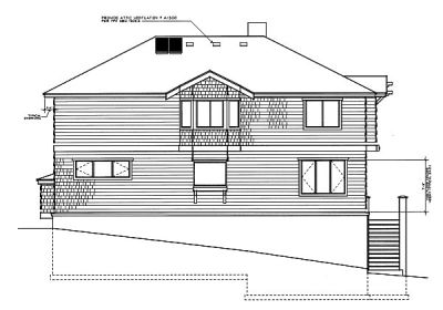 Rear Elevation Plan: 1-143