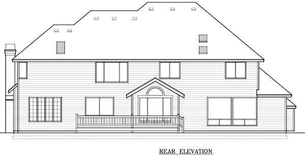 Rear Elevation Plan: 1-145