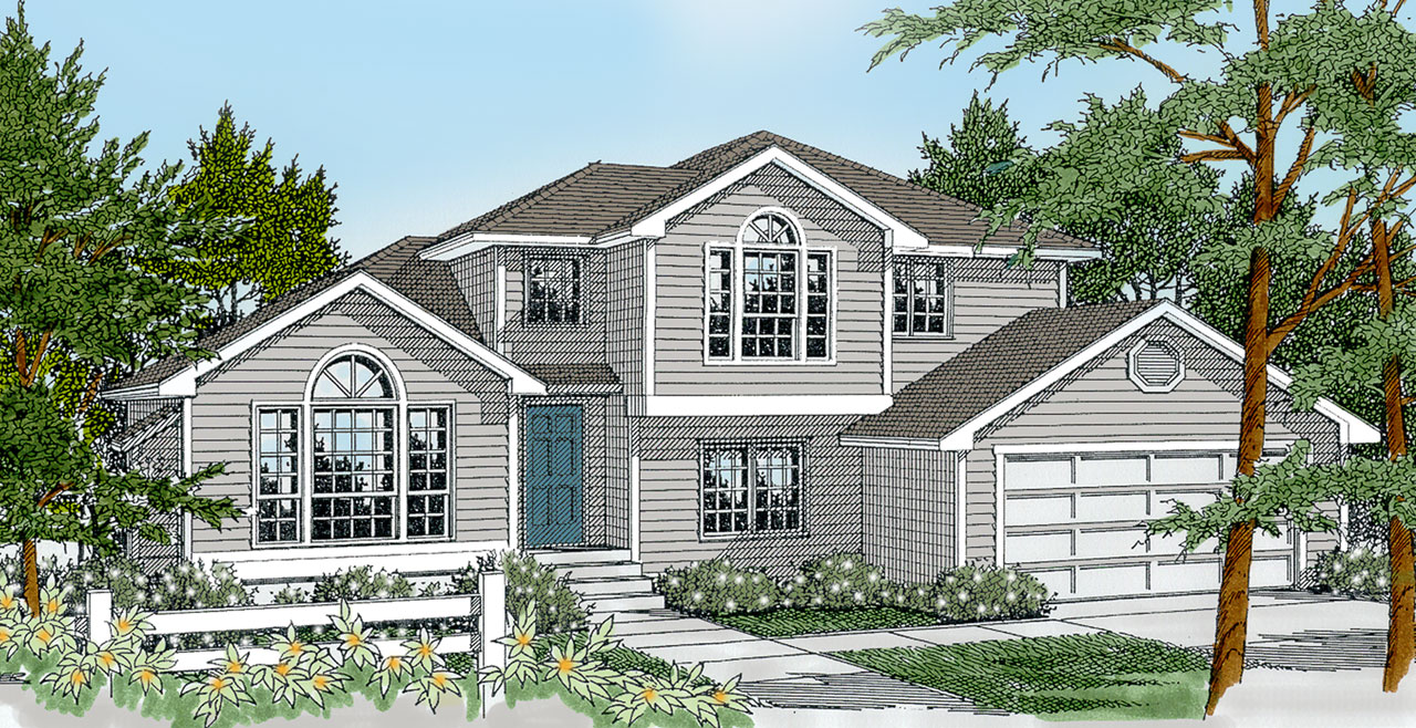 Traditional Style Home Design Plan: 1-146