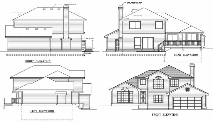 Rear Elevation Plan: 1-146