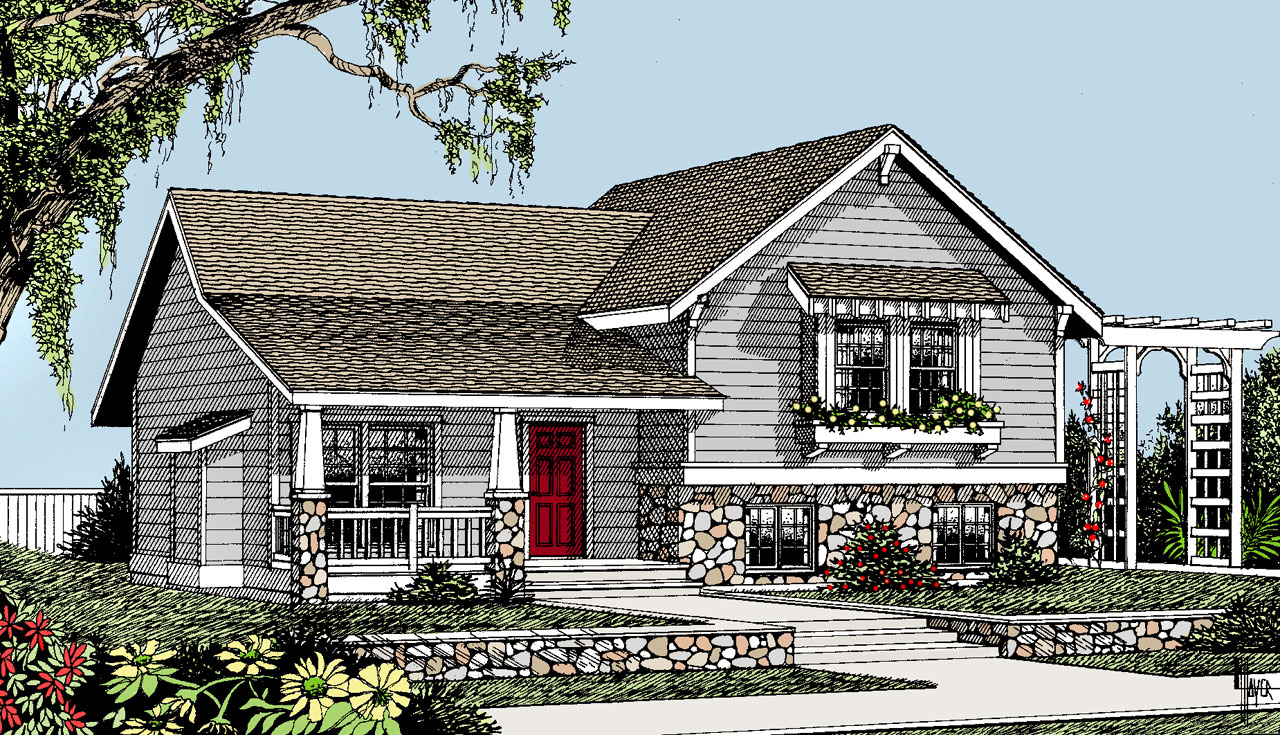 Craftsman Style House Plans Plan: 1-147