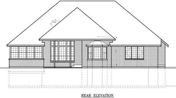 Rear Elevation Plan: 1-148