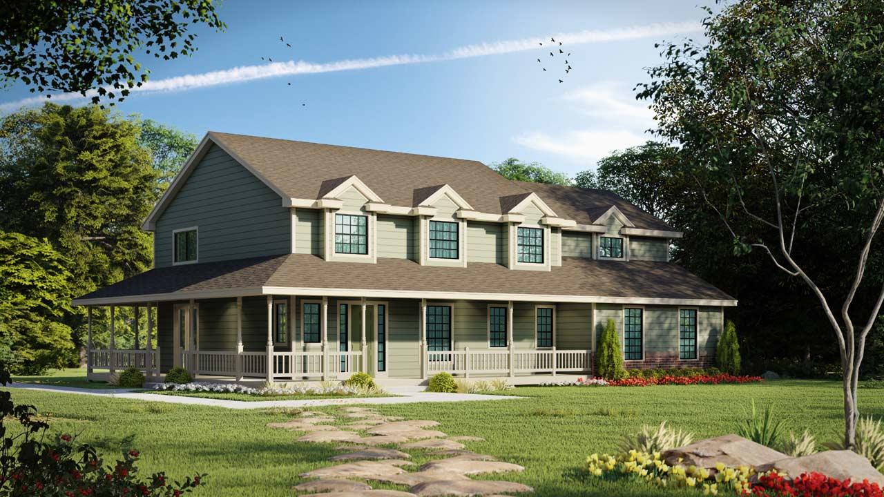 Farm Style House Plans Plan: 1-150